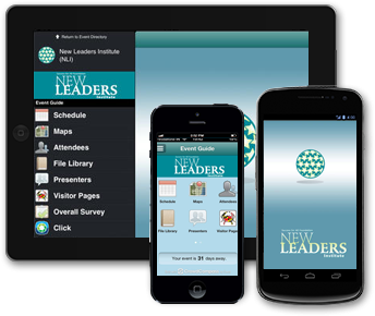 New Leaders app on devices