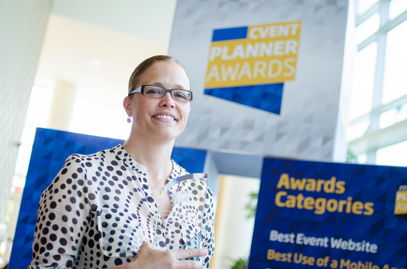 Image of woman smiling at the Cvent Planner Awards