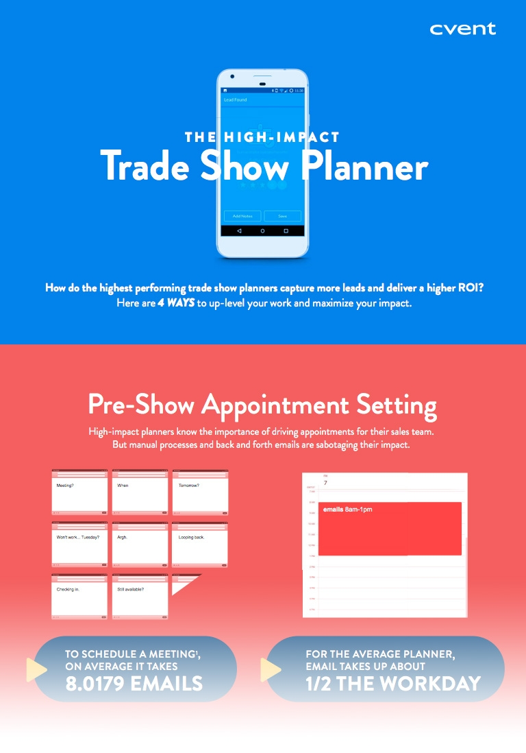 Preview of The High Impact Trade Show Planner Infographic