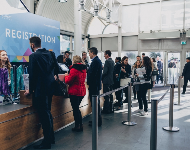 Check-In bei Cvent CONNECT Europe 2018