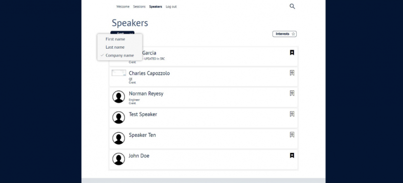 Speakers in Mobile Connect