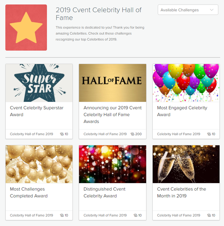 Cvent Celebrity Hall of Fame