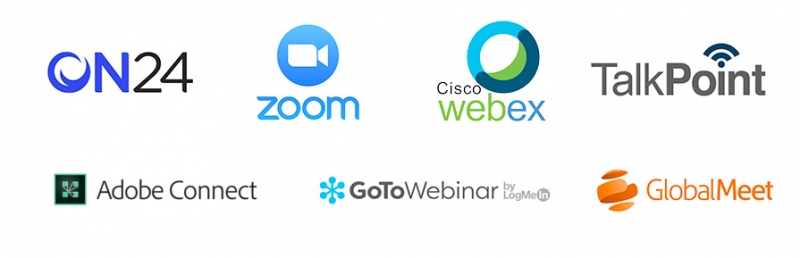 Cvent integrates with many web conferencing platforms