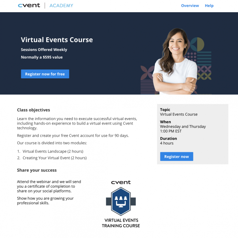 Free Event Planner Certification & Training With Cvent