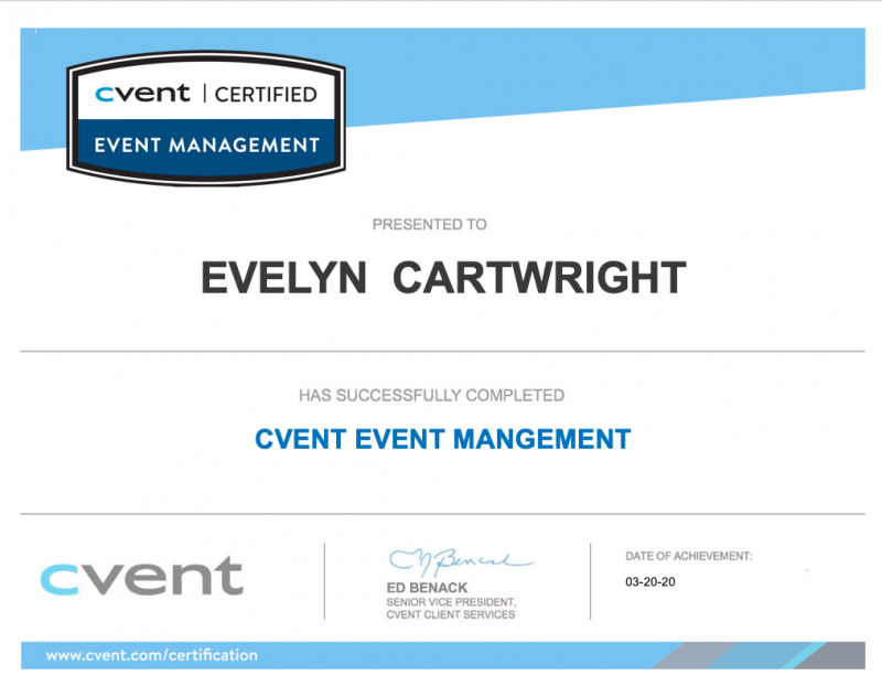 Event Planner certification