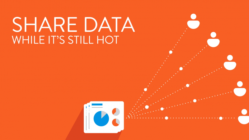 Share Data While It's Still Hot