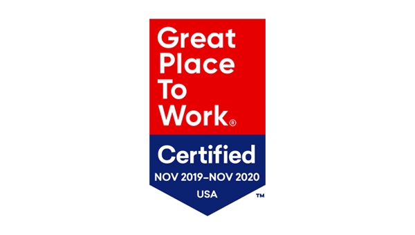 Great Place to Work Certified: 2019-2020