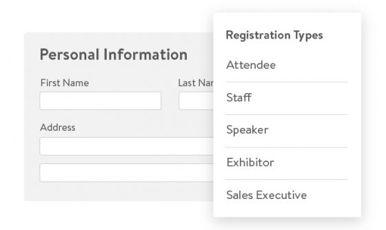 Scalable event registration software