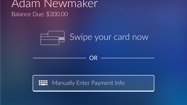 On Site payment Screen