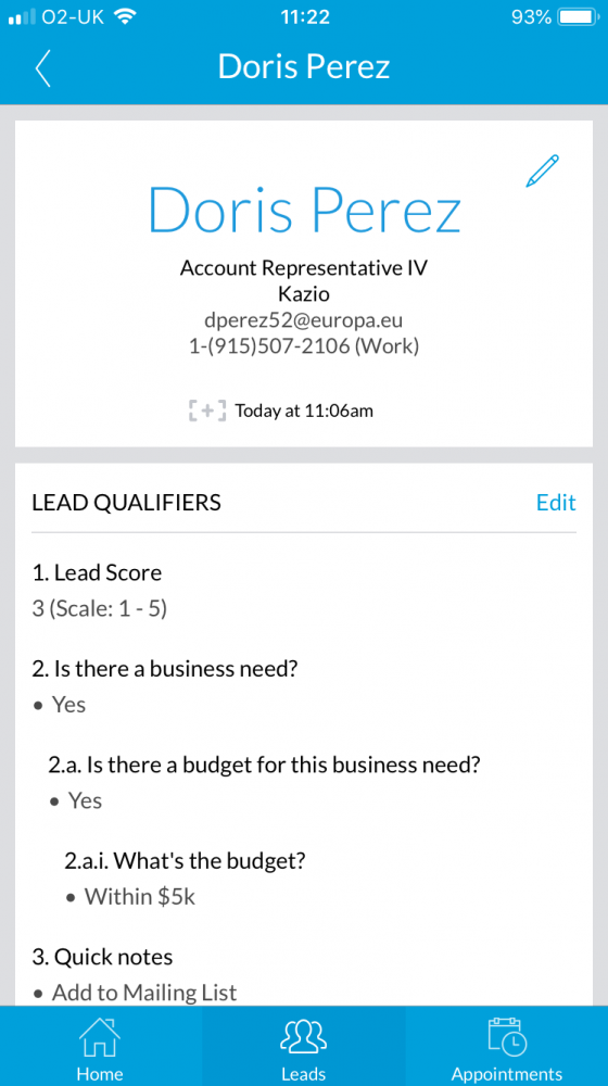 Universal LeadCapture mobile screenshot