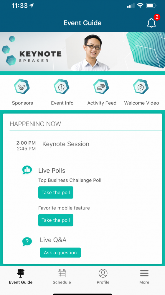 Cvent mobile app attendee engagement