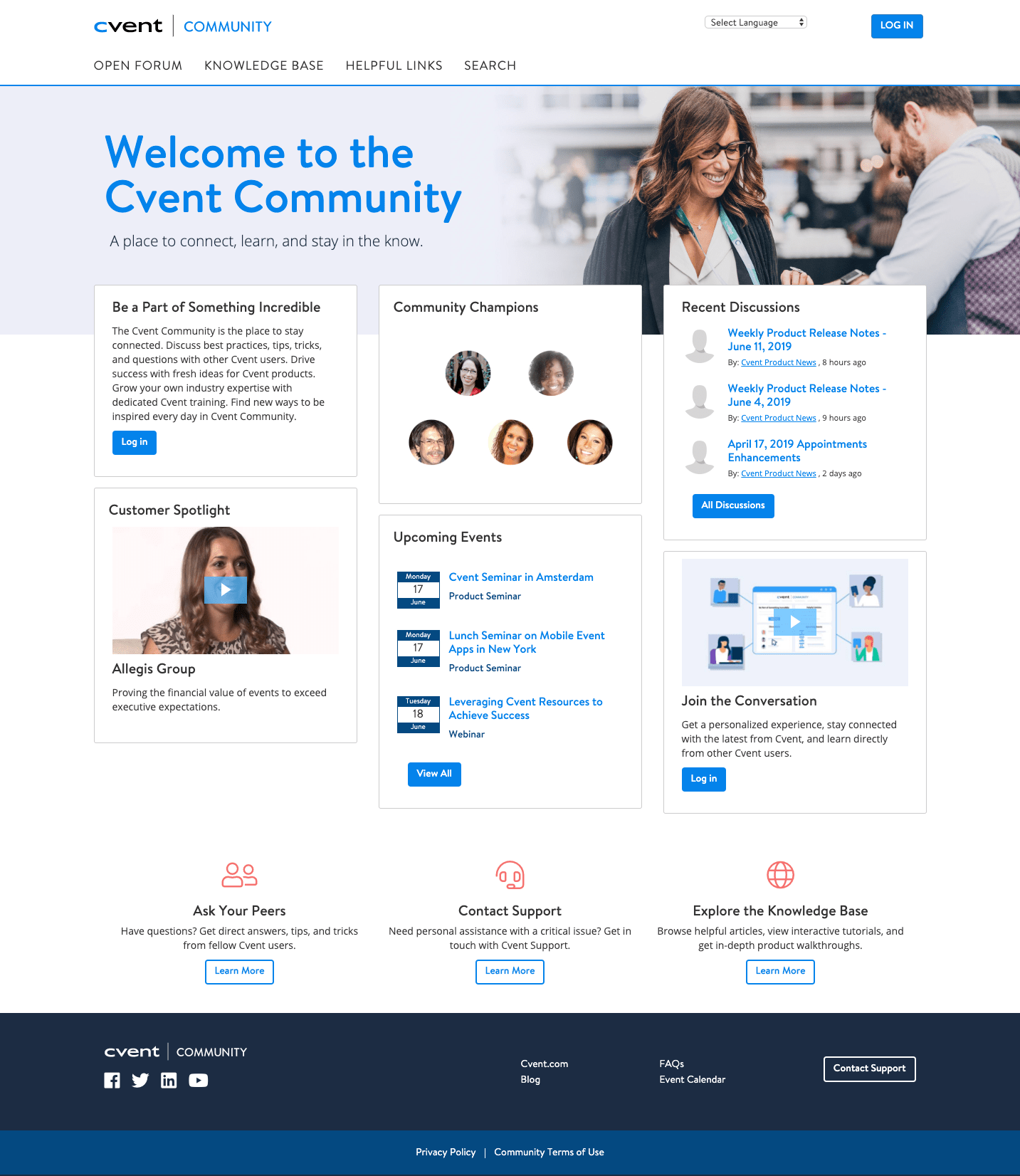 Connect, learn, and stay in the know with the Cvent Community