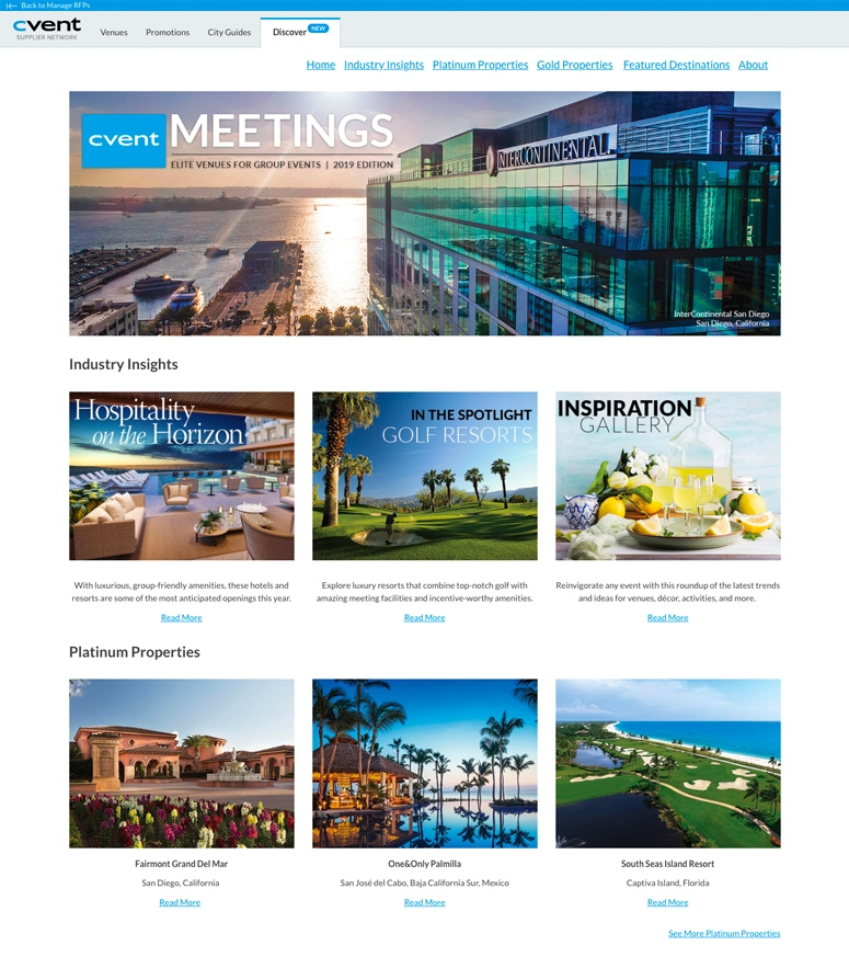 Cvent Meetings Digital Magazine Screenshot