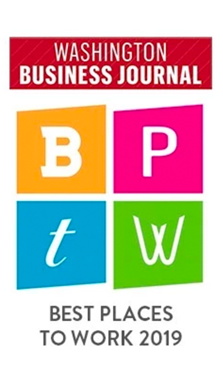 Washington Business Journal - Best Places to Work 2019